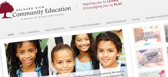 Orchard View Community Education Website Redesign - Envigor