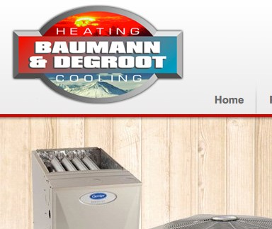 Baumann & DeGroot Heating and Cooling - Web Design & Development