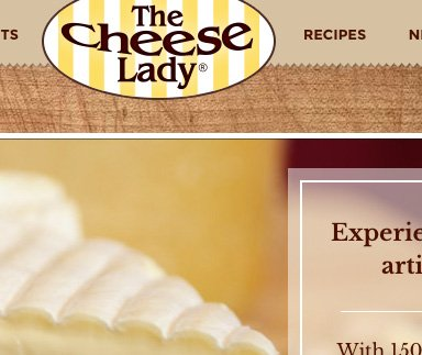 The Cheese Lady - Web Design & Development